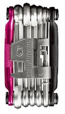 Crank Brothers M17 Multi Tool for Bicycle - 17 Bike Tools - Pink / Black