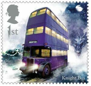2018 Great Britain 🍁🧹 HARRY POTTER SERIES 🧹 KNIGHT BUS 🚌🧹🍁MNH Single