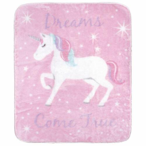 Magical Unicorn Hudson Baby Girl High Pile Blanket