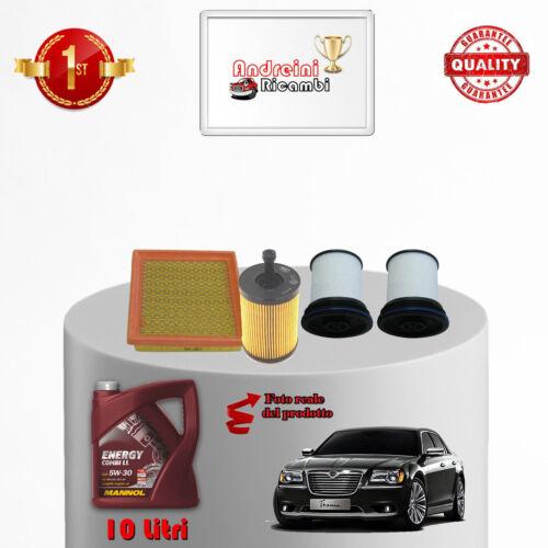 KIT TAGLIANDO FILTRI E OLIO LANCIA THEMA II 3.0 V6 CRD 176KW 239CV 2014 />