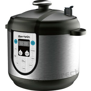 6l Non Stick Multi Function Electric Pressure Cooker Stainless Steel Rice Pot Ebay