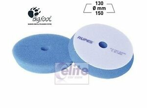 Rupes Bigfoot 150mm Azul gruesa espuma rígida de corte y pulido almohadilla-Paquete De Cuatro