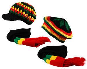 rasta-TAM-a-Enfiler-Pic-Bonnet-Ensemble-Foulard-chapeau