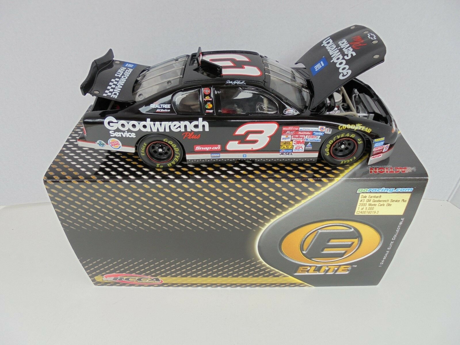 Dale Earnhardt GM Goodwrench Service Plus 2000 McDonald Acción Elite Nascar Diecast