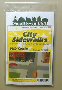 CITY-SIDEWALKS-KIT-HO-1-87-SCALE-LAYOUT-DIORAMA-RIX-SMALLTOWN-7000