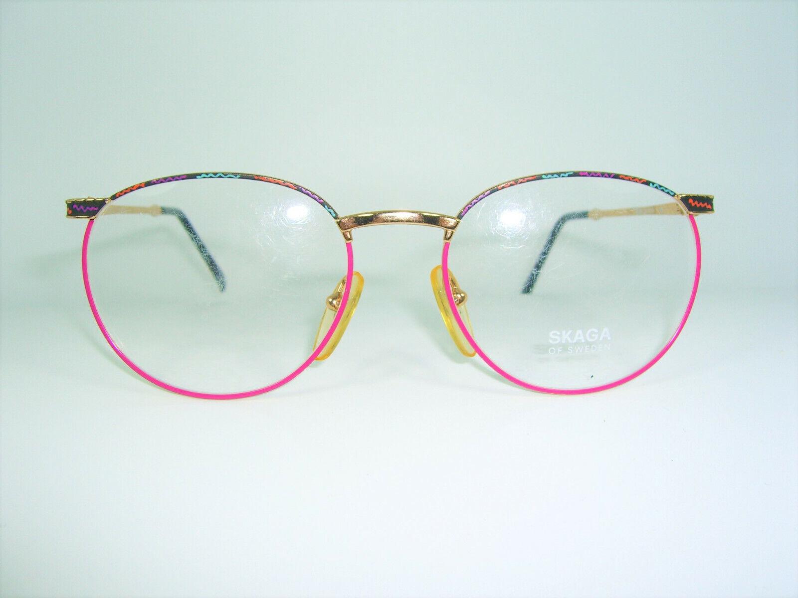 Skaga, eyeglasses, round, Panto, oval, Gold plated, frames, NOS, hyper vintage