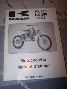 Analytique Jw Manuel D'atelier/workshop Service Manual Kawasaki Motocyclette Kx125 Kx250 Achat SpéCial