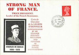 GB1970 Special Commemorative Cover Strong Man of France Charles De Gaulle OD2