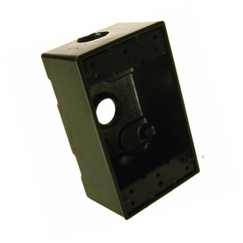 Hubbell-Bell 5320-2 Single Gang 3-1//2-Inch Outlets Weatherproof Box