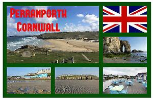 PERRANPORTH-CORNWALL-SOUVENIR-NOVELTY-FRIDGE-MAGNET-FLAGS-SIGHTS-GIFTS