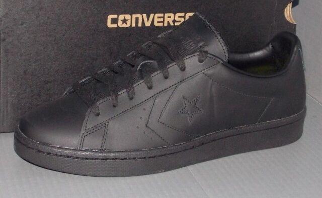 d99f34b22172 Converse PL 76 Ox Black Leather Shoes SNEAKERS Men s Size 10 155318C ...