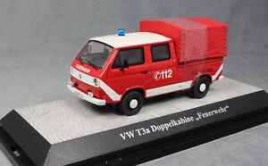 Vw T3a Double Cabine de collecte de toile Pompiers Classixxs Premium 11529 1/43