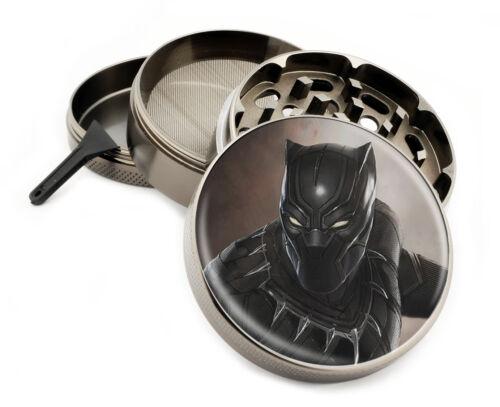 Black Panther 4pc Superhero Themed Herb Grinders w//Scraper Spice crusher
