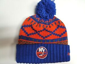 6c04bf75900c70 Image is loading New-York-Islanders-Knit-Hat-Reebok-Blue-Snowflake-