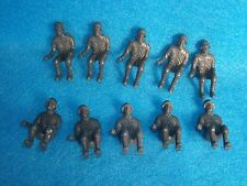 MARX reissued toy soldiers WWII German seated figures x 10, 54mm
