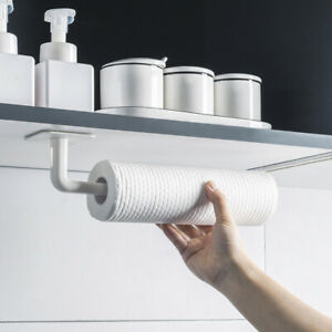 Kitchen-Wall-Mounted-Rack-Holders-Roll-Paper-Cling-Film-Mug-Stand-Storage-Hook