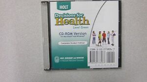 Holt Decisions for Health Green (2004, CD-ROM, Student ...