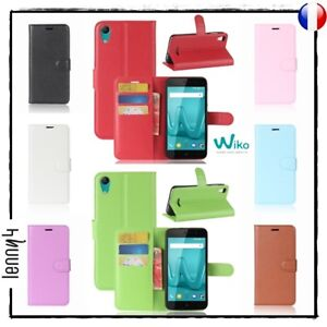 Coque-Housse-Etui-Porte-cartes-Cuir-PU-Leather-Wallet-Case-Cover-WIKO-Lenny-4