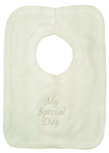 Christening Bibs White or Cream Satin or Cotton fabric Plain or Lacy Edge