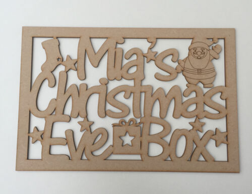 MDF Christmas Eve Box wih Personalised Topper Christmas Treat Box Make Your Own