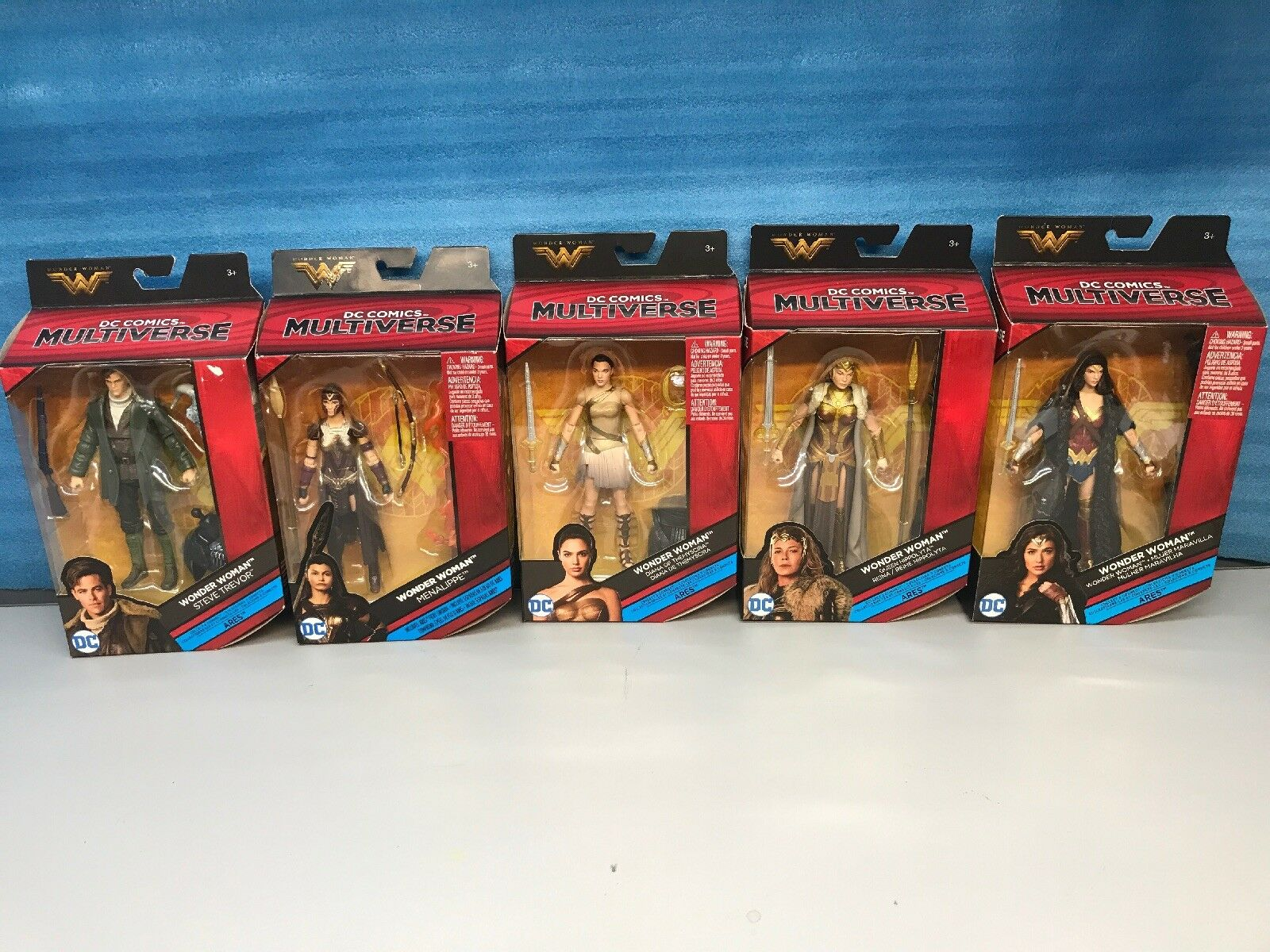 DC Multiverse Lot Of 5. WONDER donna 6  azione cifra BAF ARES Set.