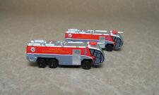1/400 Panda Model GSE, Hong Kong Fire trucks, red, set of 2.
