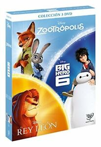 ZOOTROPOLIS-BIG-HERO-6-EL-REY-LEON-DVD-COLECCION-DE-3-NUEVO-SIN-ABRIR