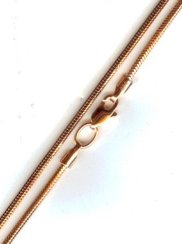 Armband 18 cm Russische Rose Rotgold 585 Russische Kette SNAKE 1mm Kette