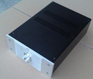 DIY Full Aluminum Enclosure AMP case//power amplifier box// chassis 425*80*350mm