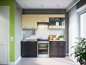 eldoradom bel k che martha wenge 220 cm k chenzeile k chenblock einbauk che ebay. Black Bedroom Furniture Sets. Home Design Ideas