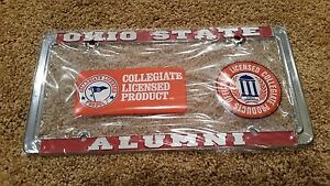 Ohio-State-Buckeyes-Alumni-Metal-License-Plate-Frame-Officially-Licensed-Car
