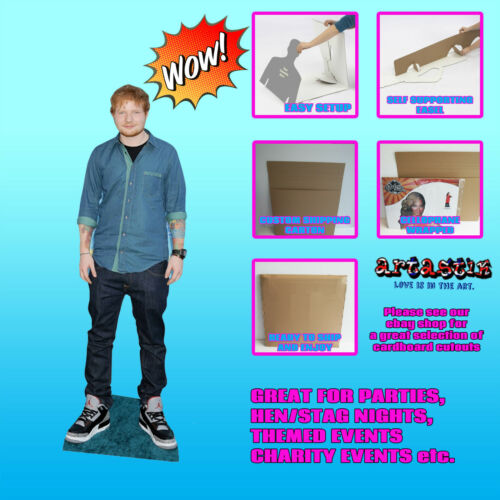 Ed sheeran lifesize cardboard découpe voyageur debout standup SC595 ed sheeran célébrité