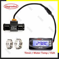 Koso Motorcycle Thermometer Voltmeter Timer Mini3 Led Digital Display Water Temp