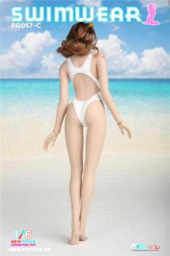 """1//6 FIRE GIRL FG057 Latex Swimuear Swimsuit Dress Skirt Clothing Set F 12/"""" Body"""
