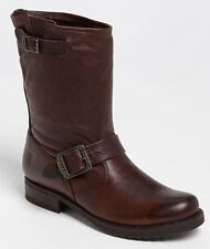$298 FRYE 'Veronica Shortie' Slouchy Dark Brown Leather Boots Size ~ 7.5