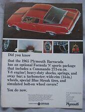 1965 Plymouth Barracuda Original advert