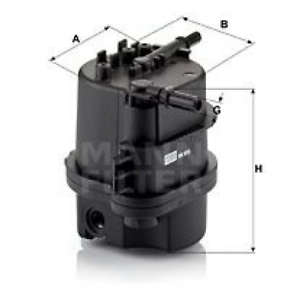 Mann WK 9015 X Kraftstofffilter Dieselfilter für Citroen Ford Mazda Peugeot