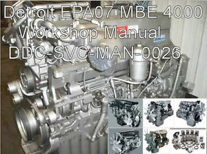 s l300 detroit diesel mbe 4000 mbe4000 epa07 service manual technical guide