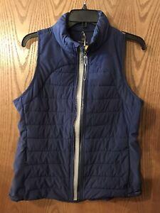NEW-Tangerine-Women-039-s-Sleeveless-Reflective-Taping-Active-Vest-Size-Medium