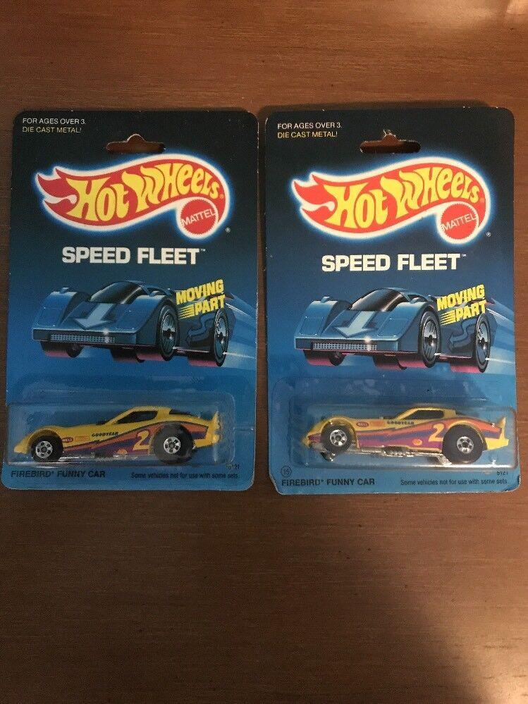 HOT WHEELS 1986 SPEED FLEET FIREBIRD FUNNY CAR CAR CAR X2 Paint Error 2a821c