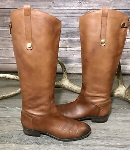 a94e7003fba69 Image is loading Sam-Edelman-Penny-Brown-Leather-Riding-Boot-Women-