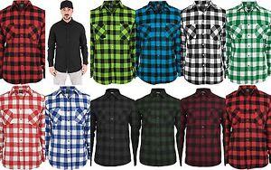 URBAN-CLASSICS-Camicia-uomo-flanella-Checked-Flanell-Shirt-TB297