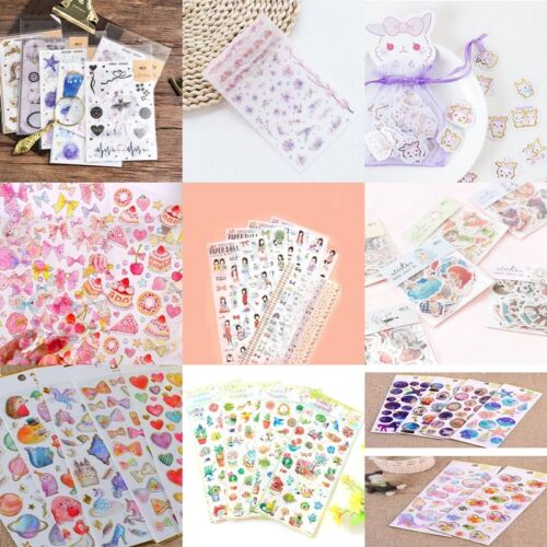 Cute Cartoon Decorative Stickers DIY PVC Stationery Stickers Home-Decor!