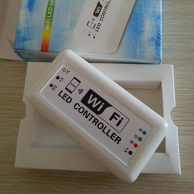 WIFI Remote Controller For RGB LED Color Changing Strip Light Phone iOS Android