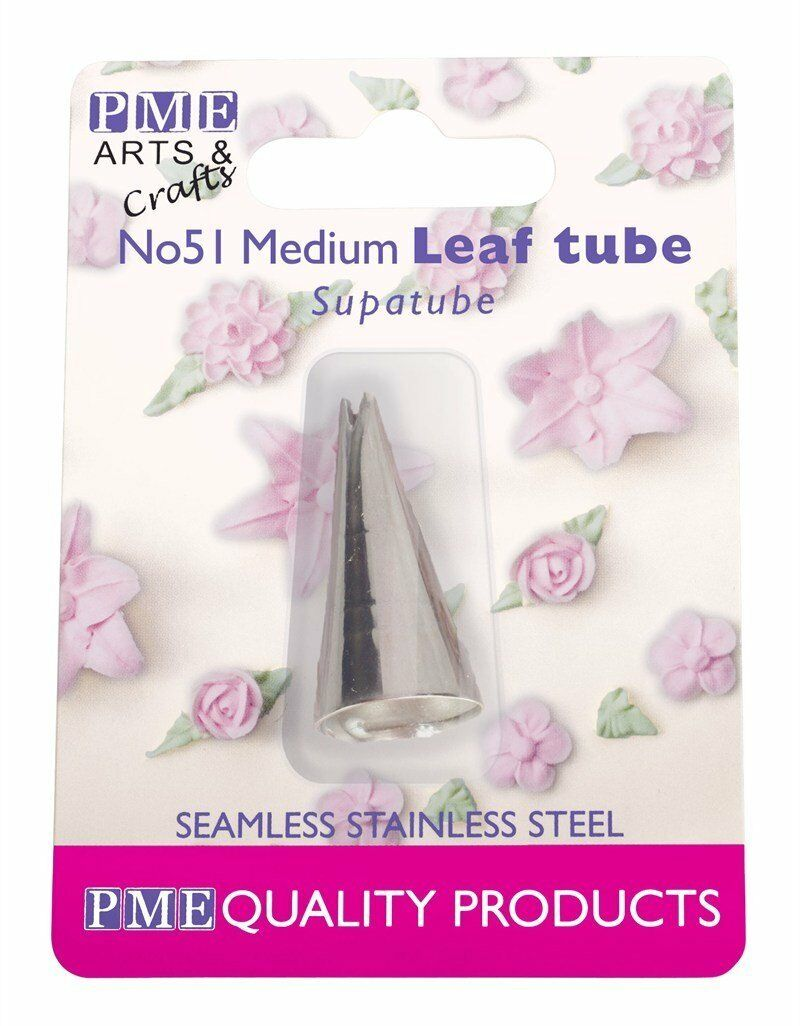 Silver PME ST56R Supatube Decorating Tip Petal Right Handed #56R Standard