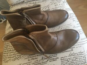 ZARA-MAN-BROWN-TAN-REAL-BEAUTIFUL-LEATHER-BOOTS-ZIPS-ON-BOTH-SIDES-BRAND-NEW