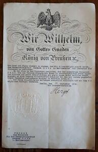 Oscar-HERGT-1869-1967-Deutsches-Reich-Preussen-Koenig-Wilhelm-PATENT-Anno-1918