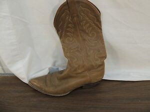 Vintage Sanders Cowboy Boots Women/'s 8 LEFT BOOT ONLY Western Brown 50389