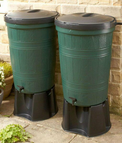 200 Litre Water Butt TWIN Kit (2 x 200L Kits) - with FREE Link Kit