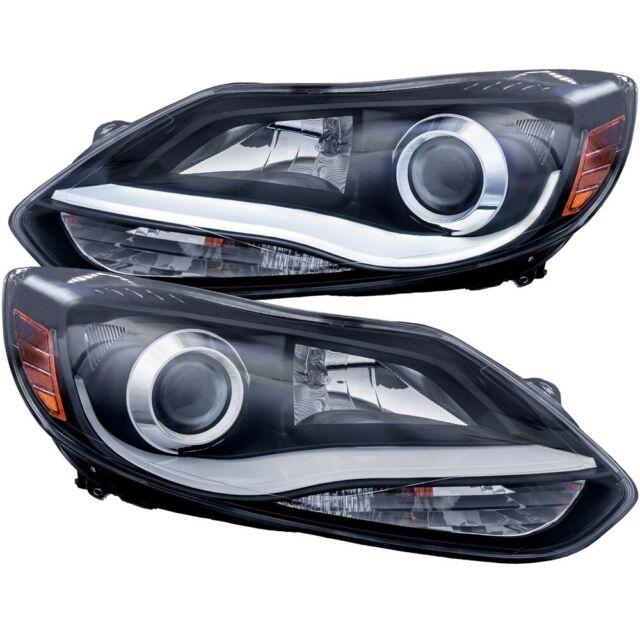 Faros delanteros para proyectores Anzo, estilo tablón negro, para Ford Focus 12-15 # 121490